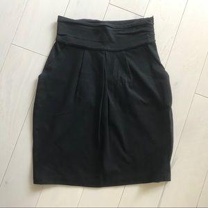 BCBG stretch high waist tulip pencil skirt
